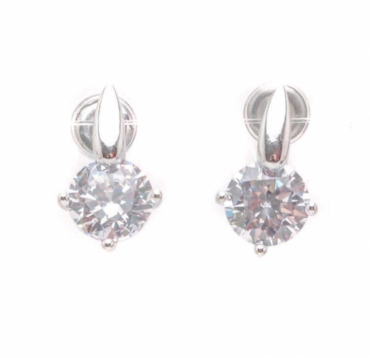Viva classic oorsteker crystal kleurig steentje
