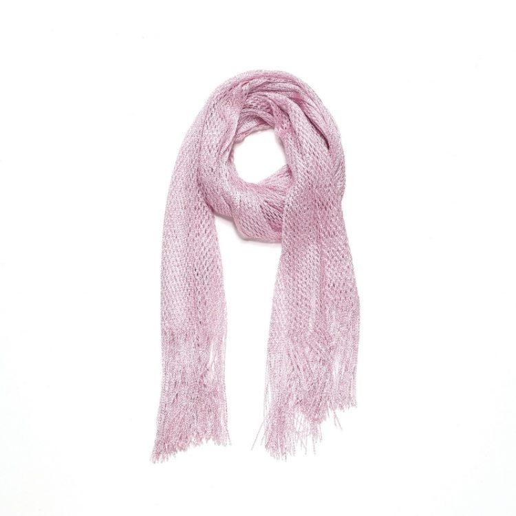 Zacht roze lange sjaal Biba