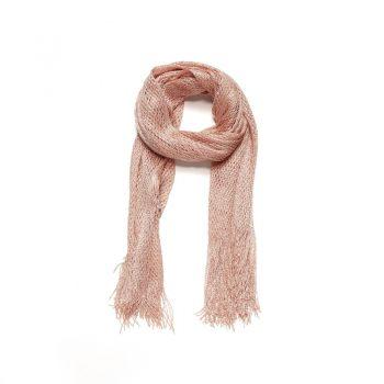 Zalm kleurige lange sjaal Biba