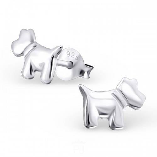 Honden oorbellen zilver | sterling zilver 925