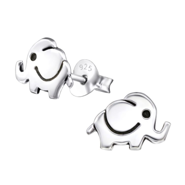 Kinderoorbellen olifant zilver | echt zilver 925