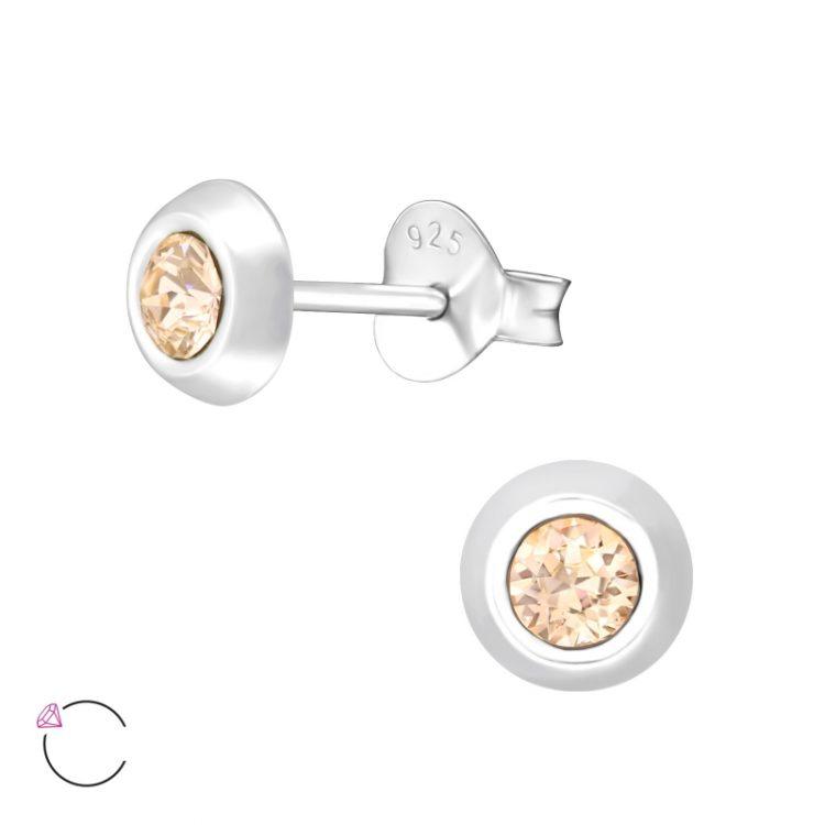 Zilveren oorbellen met Swarovski slik