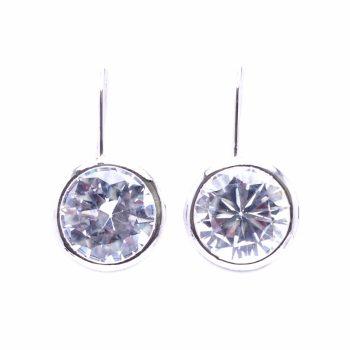 Viva classic oorhanger geslepen ronde steen-crystal