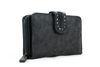 Midden maat portemonnee zwart met handige vakken