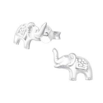 Kinderoorbellen olifant zilver   echt zilver 925