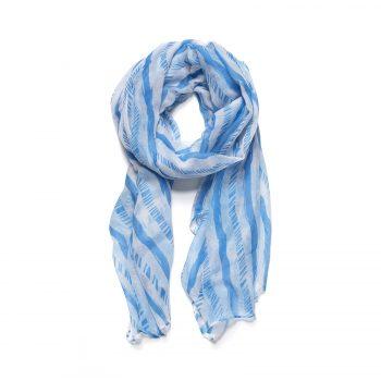 Biba sjaal blauw witte strepen