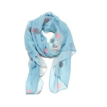 Biba sjaal blauw gekleurde bollen