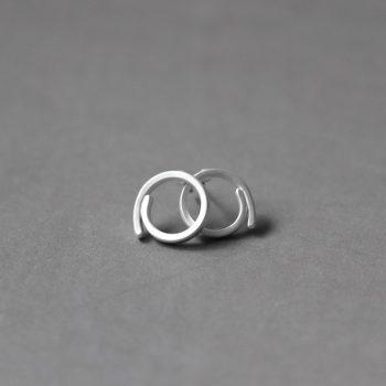 Biba oorbellen rond zilverkleurig-15 mm