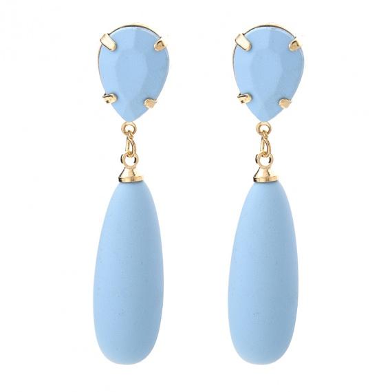 Viva oorbellen licht blauw rubber