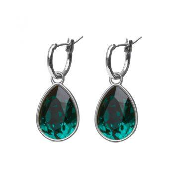 Biba creolen Swarovski emerald druppel