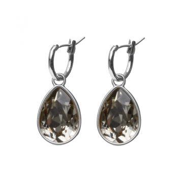 Biba creolen Swarovski black-diamond druppel