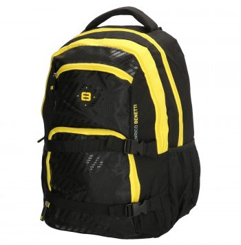 Enrico Benetti zwart-geel - laptop rugtas zijkant