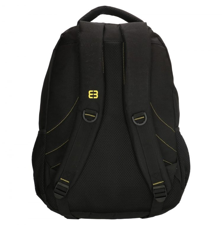 Enrico Benetti zwart-geel - laptop rugtas achterkant