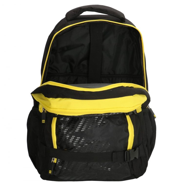 Enrico Benetti zwart-geel - laptop rugtas binnenkant