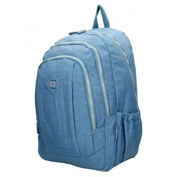 Enrico Benetti nylon rugzak jeans blauw zijkant