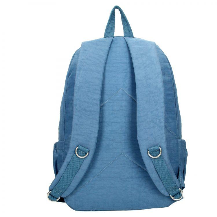 Enrico Benetti nylon rugzak jeans blauw achterkant