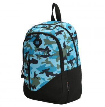 Enrico Benetti camouflage rugtas blauw-laptop rugtas zijkant