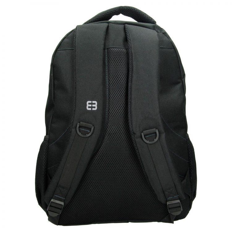 Enrico Benetti rugtas – laptop rugtas zwart grijs achterkant