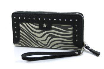 Zebra portemonnee zwart groen 254