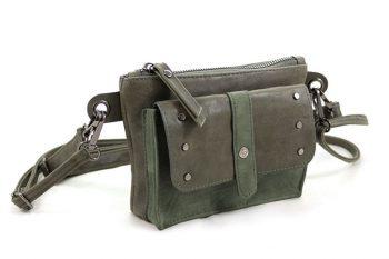Stoer schouder- heuptasjes groen met studs
