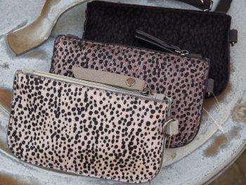 Kleine zak portemonnee leopard print