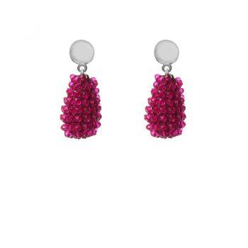 Biba oorbellen roze druppel kralen