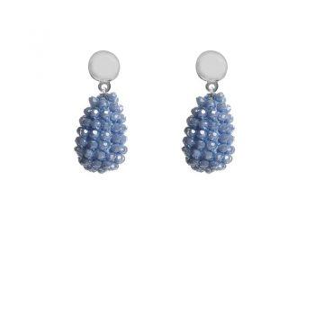 Biba oorbellen licht-blauwe druppel kralen