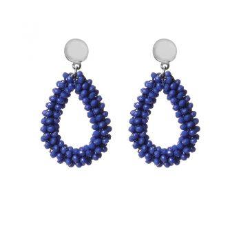 Biba oorbellen fel blauw drops beads