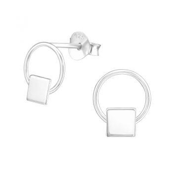 Zilveren oorbellen rond -sterling zilver