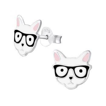 Kinderoorbellen kat met zwarte bril