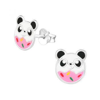 Panda beer oorbellen sterling zilver