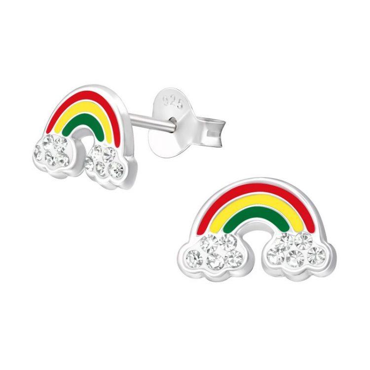 Kinderoorbellen gekleurde regenboog met kristal