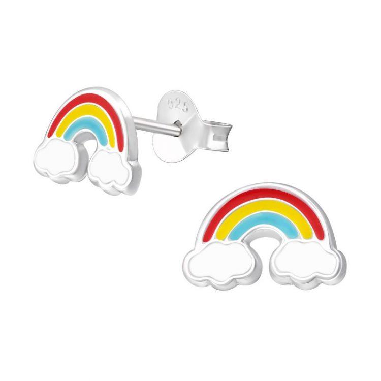 Kinderoorbellen gekleurde regenboog zilver