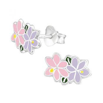 Zilveren oorbellen jasmijn