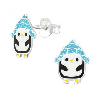 Pinguin oorbellen met iglo-muts