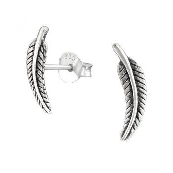 Veren geoxideerde zilveren oorbellen