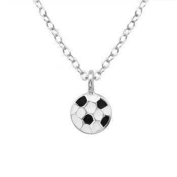 Voetbal ketting zilver