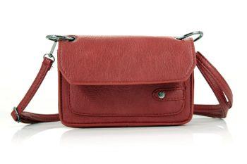 Klein schoudertasje-crossbodytasje rood