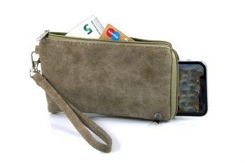 Portemonnee met telefoonvak groen