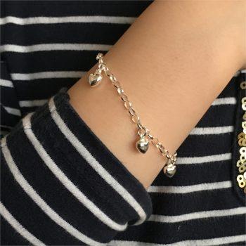 Meisjes armband met hartjes Lilly