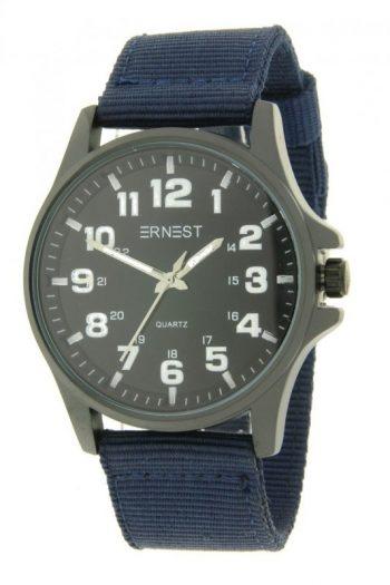 Ernest stoer heren horloge blauw