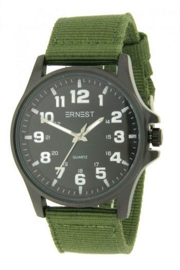 Ernest stoer heren horloge groen