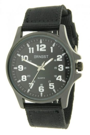 Ernest stoer heren horloge zwart