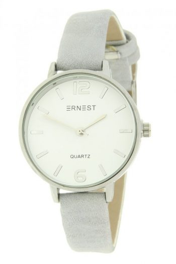 Quartz horloge 30 mm klok zilvergrijs