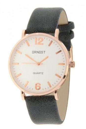 Zwart horloge rosé klokje merk Ernest