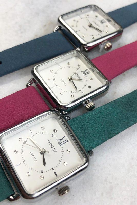 Ernest horloge vierkant