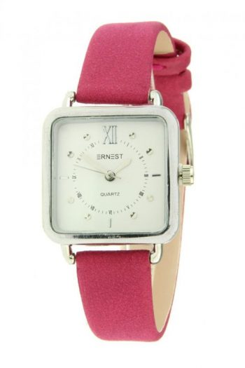 Ernest horloge vierkantroze