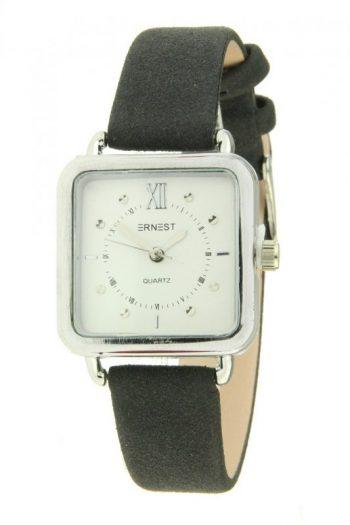 Ernest horloge vierkantzwart
