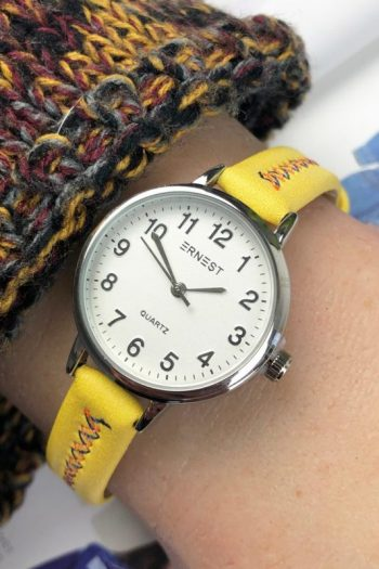 Ernest horloge stitch mini geel