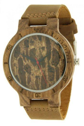 Ernest houten horloge-bruin band 45mm